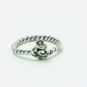 Handmade sterling silver twisty ring 925